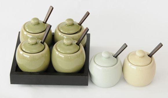 Picture of Condiment Set Round White - GWC05W