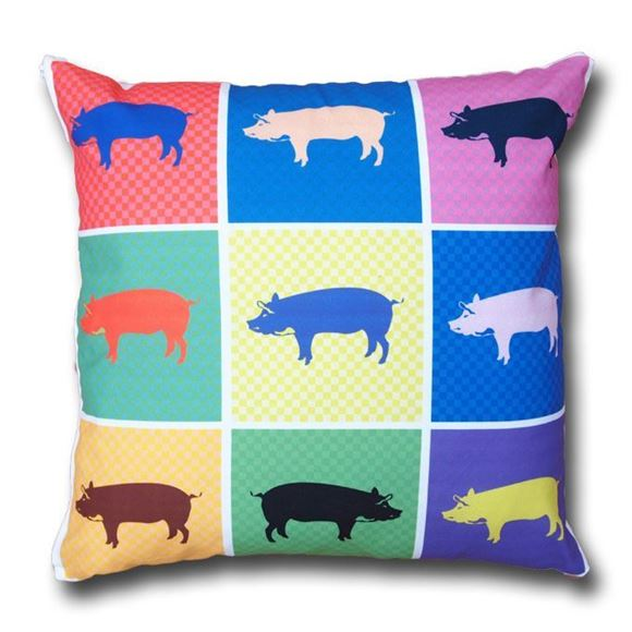 Picture of CUSHION COVER POP ART PIGGY 45X45 - LC023