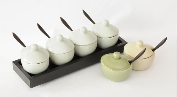 Picture of GWC04W - CONDIMENT SET OVAL WHITE