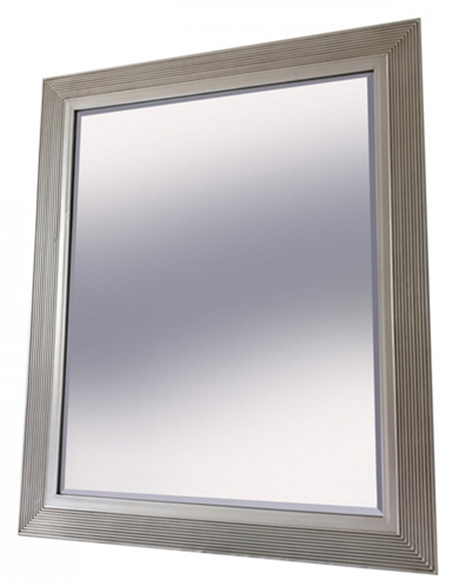 Picture of Antique Silver Frame with Strip Design Mirror (25080)