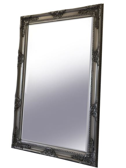 Picture of ANTIQUE SILVER, TOGO LARGE MIRROR (27008)