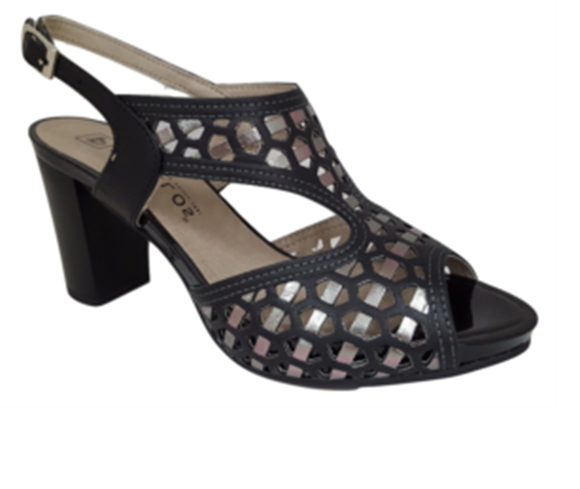Picture of Pitillos - Black & Silver Heel - Size 37