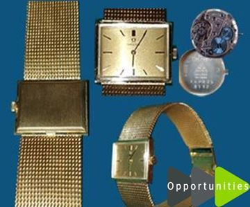 Picture of Vintage Mechanical 18k Gold Omega Square Ladies Watch