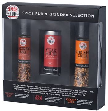 Picture of Spicehub BBQ Grinder & Rub Gift Pack 550g - Carton of 6 (GPSH004)